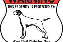 English Pointer Signs and Pictures / Warning and Caution English Pointer Dog Signs. https://www.signswithanattitude.com/english-pointer-signs.html