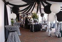 black and white event