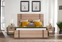 Modern Natural Wood Walnut Bedroom Collection