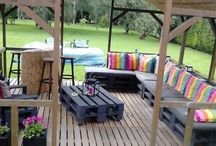 Hand made garden furniture! / To evaluate the wooden pallets that used to carry the load. It's easy and cheap!