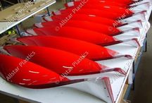 Retails Christmas Displays / Twisted Red Acrylic For Shop display.