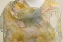 Hand painted silk scarves / Best beautiful  Wearable art : Silk Painting