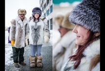 Alaska Fashion / ...wedding attire for Alaska...fashion for Alaska...cold weather couture...