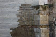 Detalles de muro de piedra