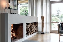 #Fire place / Stylish ways to integrate a fireplace into our living room or kitchen.