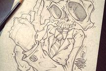 Sketchbook and drawbook