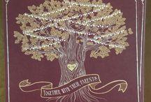 Mauve and gold wedding / Mauve and gold wedding invitations string lights oak tree outdoor wedding