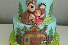 bolo masha e orso
