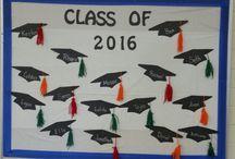Graduation bulletin boards