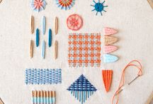 Hand stitching // Embroidery / Modern hand stitching, including hand embroidery, needlepoint, and cross stitch