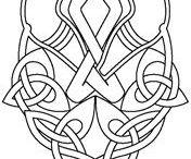 celtic viking knot art