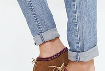 Jeans Gantung plus sepatu coklat