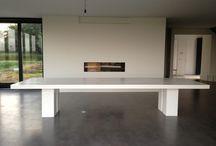 Inspiratie | T A B L E / Meubls is een eigentijdse interieurboetiek met een stoere eigen collectie. Al onze meubels worden op ambachtelijke wijze in Nederland geproduceerd. Ook kunnen onze meubels op maat worden gemaakt, geheel in te vullen naar wens en smaak van de klant. Hier ziet u een aantal door ons en de klant ontworpen tafels.