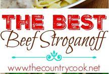 Beef stroganoff for Kristen
