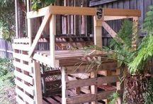 domek drewniany z palet