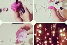 DIY: Licht: Guirlandes, kaarsen, lampen.