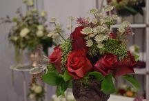 Marsala flower arrangements / Marsala is color of the year 2015