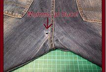 conserto em calça jeans meio das pernas