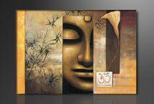 Canvas schilderijen Boeddha / Mooie canvas schilderijen van Boeddha voor aan de muur  http://www.izelo.com/wonen/canvas-schilderijen/boeddha#