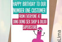 Lima Lima Rude Funny Birthday Cards / Personalised, rude, offensive, tongue in cheek, very rude birthday cards