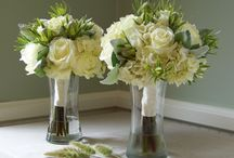 Wedding ivory and green