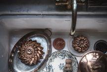 tins, copper, dishware