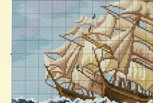 haft krzyżykowy morskie