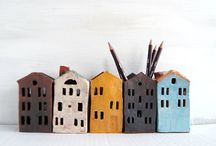 Ceramic houses from Vsocks / Ceramic houses, home decor
