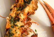 Crustacés / Recettes de homard - langouste - langoustines -