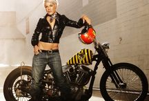 Posing Ideas - Motorcycles / A selection of images from around the web showcasing beautiful motorcycles and the people that ride them posing with them.