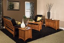 Amish Made Living Room Furniture / Sofas from the Amish and Rustic Ridge, give our customers choices like motion, leather and beautiful fabrics, that will liven up any room. Create a room that friends can visit and family can be together. Custom made and designed entertain centers available, even for flat screen TVs!