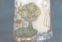 """Наперстки Объединения художников """"Этюд"""" - художник Л. Новикова / Artist  L. Novikova"""