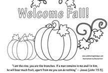Autumn-Harvest Bible Coloring Sheets / Bible based coloring sheets for Autumn--Fall--Harvest Time