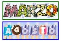 CARTELES DE AULA / Carteles para el aula de infantil, meses del año, rincones y cositas.