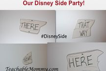 #DisneySide @Home Celebration: Disney Princess Birthday Party / Ideas for 5 Year Old Birthday Party - #DisneySide #Disney #Princesses