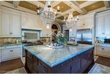 Luxury Kitchens / Dreaming of a luxury kitchen to call your very own? Look no further than Florida Luxury Homes for sale! These are some of the most magnificent kitchens you'll ever see!