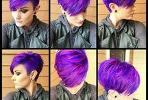 Purple and blue short hair styles / Hair styles