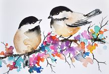 Peintures d'oiseaux