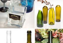 Vidros e latas reciclados