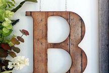 letras de madeira