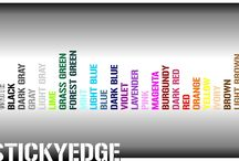 COLOUR OPTIONS | stickyedge.co.uk / SOME OF OUR STANDARD COLOURS