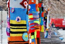 Yarn Bombing  / Yarn make me Happy