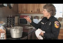 Fire Safety in the Home / Educating people about the various ways they can be safe when cooking, using candles, operating fire places to holiday safety dangers. Tips regarding safety devices like fire alarms and having an evacuation plan in place.