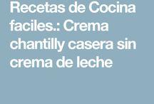 receta fácil de crema chantilly