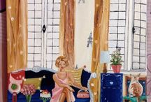 Glamour and interiors art work by Shimona's Studio / Original oil paintings by Shimona's Studio