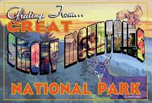 Retro Art Greetings From... National Parks Art from Ross Studio / Greetings From... is a fun retro series featuring the fabulous National Parks of America celebrating the National Park Service's centennial year in 2016