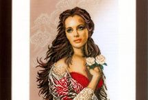 Cross stitch lady