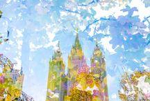 Salt Lake City Mormon Temple Engagement Session