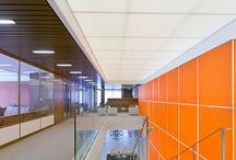 Techstyle® Acoustical Ceilings / Lightweight, large-format Techstyle® panels deliver great acoustical performance with a range of aesthetic options.