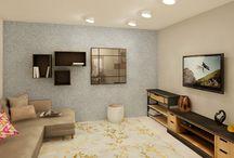 ambientação em 3d por Ingryd Lobão render de alta qualidade , idéias  e sofisticação  ❤ / Projetos Em 3d
